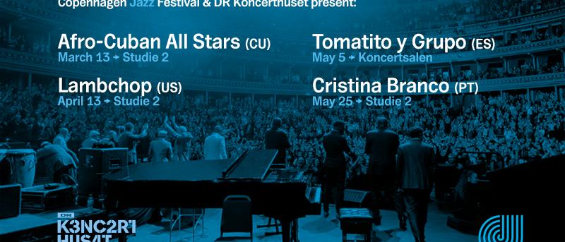 Copenhagen Jazz Festival præsenterer fire internationale forårskoncerter i DR Koncerthuset