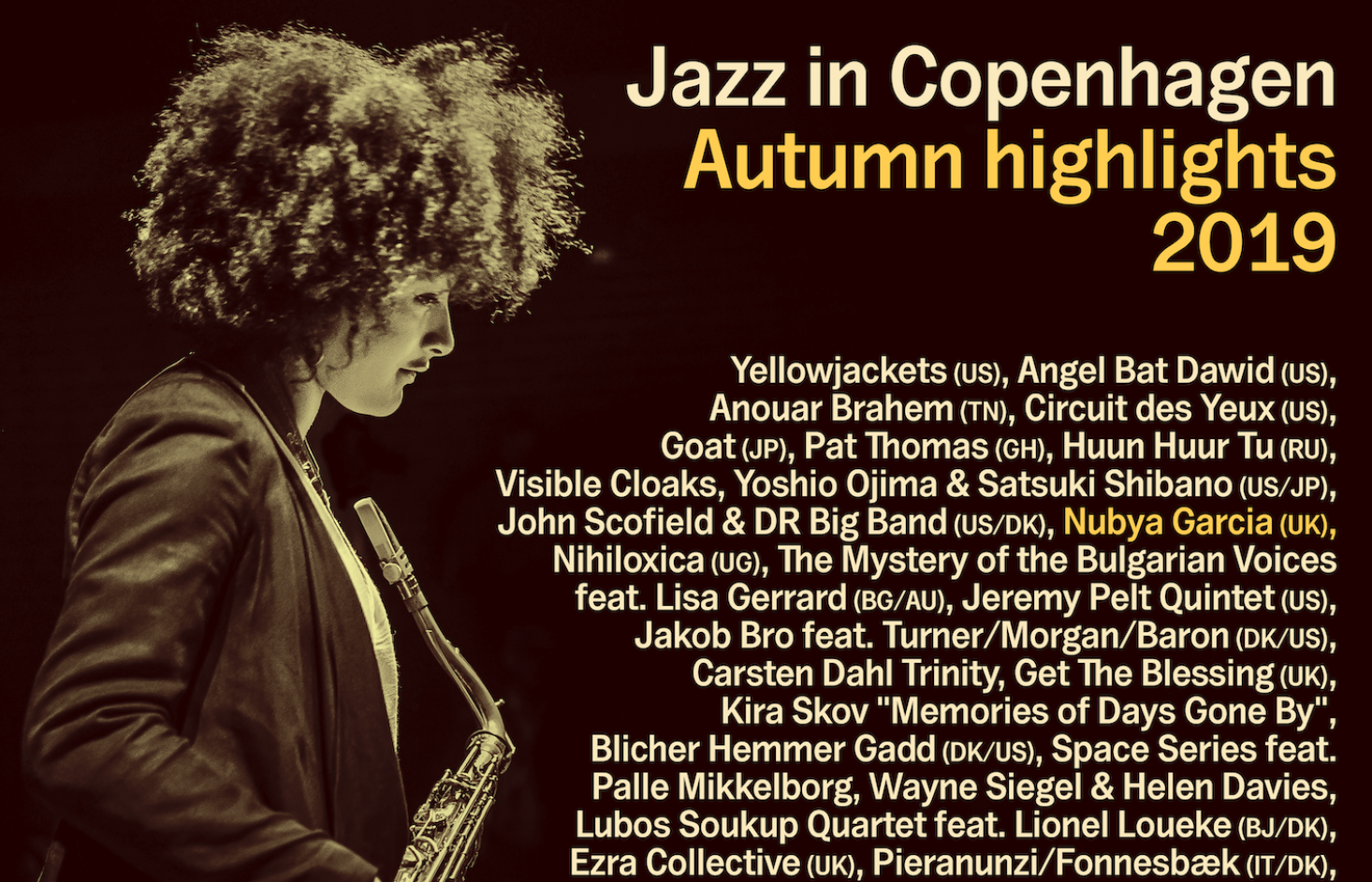 Jazz in Copenhagen: Se udvalgte koncerter i efteråret