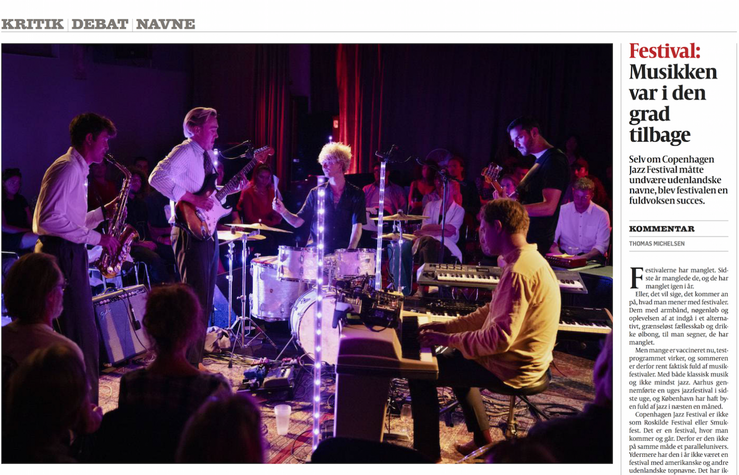 See all concerts at Copenhagen Jazz Festival 2021